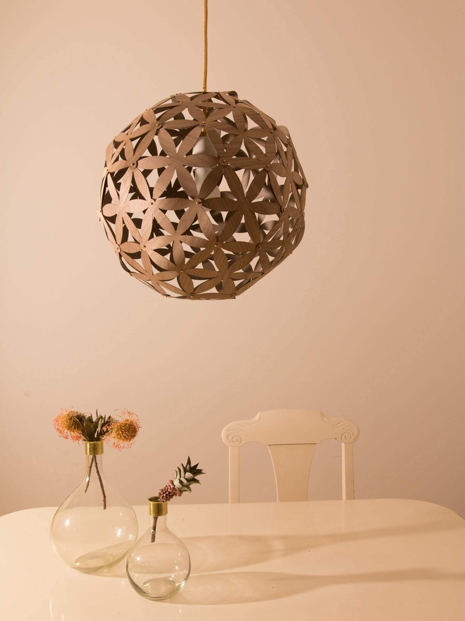 wood veneer lighting. Blomst No1 Nussbaum 1800x2400 Wood Veneer Lighting