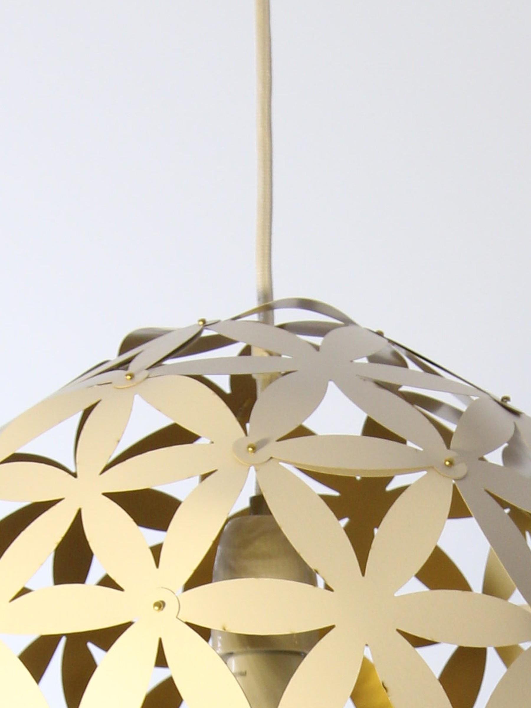 monastine shop h ngeleuchte blomst 1 papier wei gold. Black Bedroom Furniture Sets. Home Design Ideas
